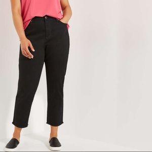 Joe Fresh • High Rise Crop Jeans Black • Size 16W
